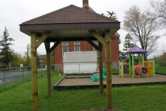 Councillor-Johnson-attends-final-inspection-of-the-new-sun-shelter-at-Woodburn-Hall-Golf-Club-Rd-April-2012