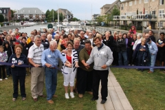 Councillor-Johnson-helps-Residents-Celebrate-for-taking-ownership-of-the-Newport-Marina-June-2012